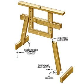 Sawhorse tech art