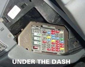 Under the dash