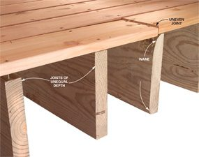 Consistent joists make for a smoother deck.