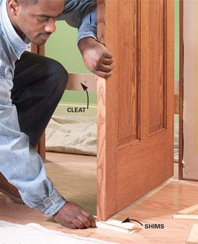 how to install a prehung door