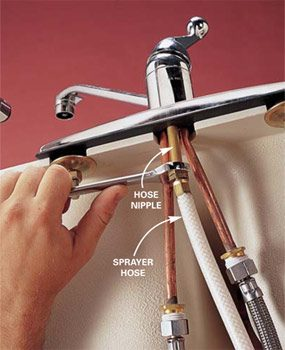 Replace A Sink Sprayer And Hose Diy Family Handyman