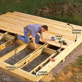 Frame the deck support system and joists