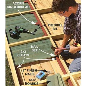 Nail the 1x6 siding to the cleats