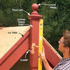 Assemble the decorative post details