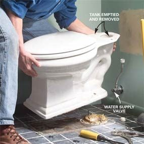how to remove a toilet diagram