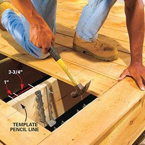 Lay out the position of the center 2x4