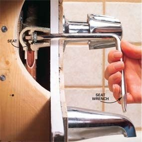 Bathroom Faucet Valve Seat how to repair a leaking tub faucet | family handyman