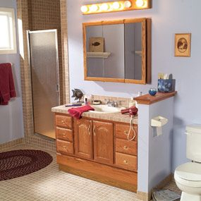 This is what the bathroom looked like before the makeover.