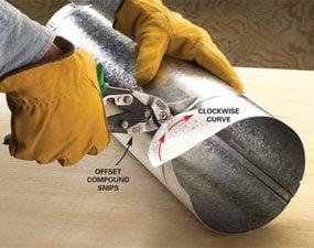 How to Use Tin Snips to Cut Sheet Metal