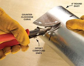 How To Use Tin Snips To Cut Sheet Metal The Family Handyman