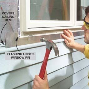 Photo 3: Install the flashing under the window