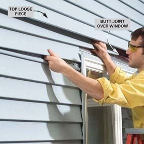 Photo 15: Install siding over the window
