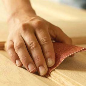 Hand-sand the curves