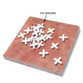 Tile spacers are available in different sizes.