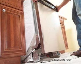 Photo 8: Slide the new dishwasher in