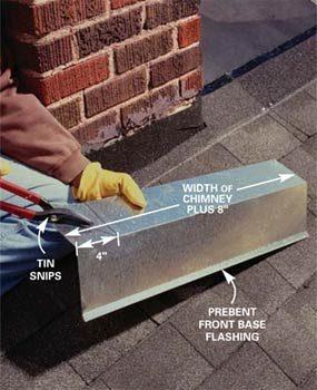 Photo 2: Cut base flashing