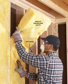 Fill All Voids How To Install Fibergl Batt Insulation