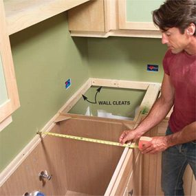 Photo 1: Determine your cabinet dimensions