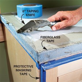 Photo 9: Tape the corners and edges