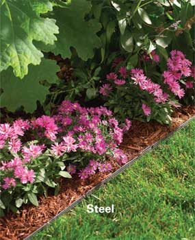 Steel edging is best for flat, straight areas