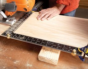 Use stair gauges as a crosscut guide