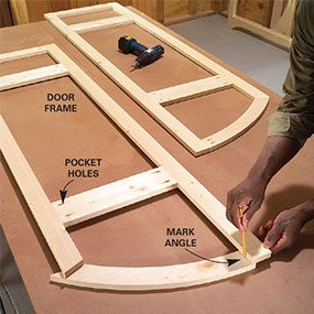 Step 6: Assemble the door frame with pocket screws