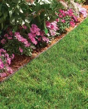 lawn edging around flower bed