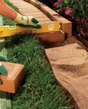 garden edgers. Photo 4: Lay The Bricks On Sand Garden Edgers