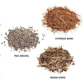 Common types of mulch