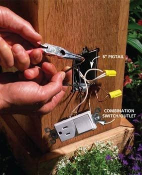 How To Install Outdoor Lighting And Outlet Part 88