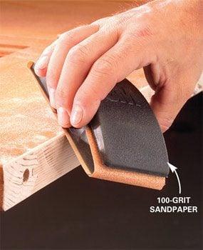 Photo 5: Sand the cut edge