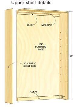 Upper shelf assembly