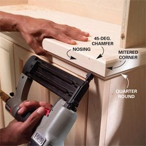Photo 19: Install the nosing and molding