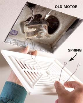 How to repair a bathroom fan the family handyman for Bathroom exhaust fan replacement