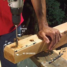 Photo 2: Drill bolt holes