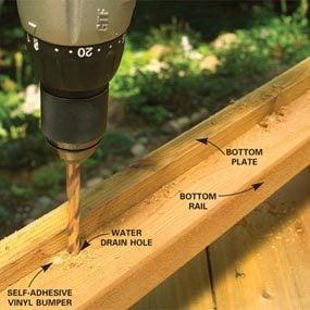 Photo 11: Drill drainage holes