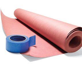 Photo 3: Tape down rosin paper