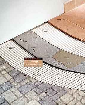 Method 1: Tile with underlayment