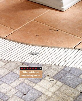 Method 2: Tile without underlayment