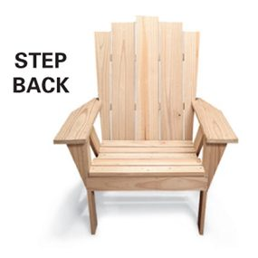 Chair - stepped back