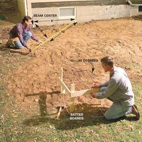Photo 1:  Lay out footings