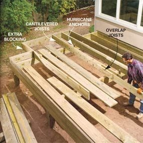 add joists wood deck