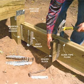 joists wood deck