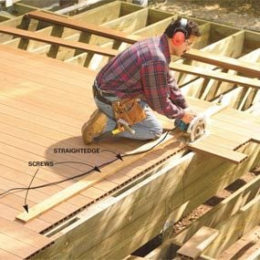 cut in stair nosing wood deck
