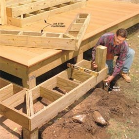 Photo 18: Construct the stair platform