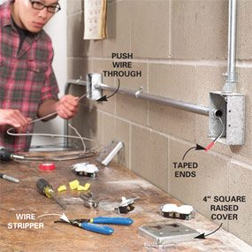 How to Install Surface-Mounted Wiring and Conduit