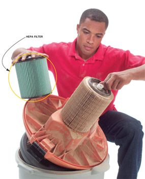 Upgrade to a HEPA filter to trap finer particles.