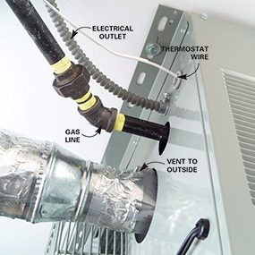 Installation of a forced-air heater