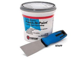 Putty knife and spackling compound