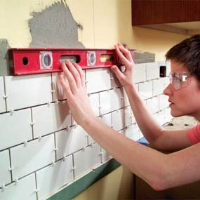 Installing Kitchen Backsplash and New Vent Hood